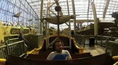 Man on amusment park ride V3 - HD Stock Footage