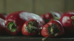 Roasted paprika (close up) _2 Stock Footage