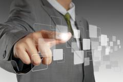 Stock Illustration of virtual touch screen interface
