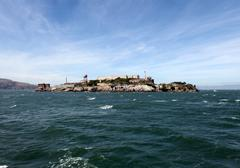 alcatraz prison island - stock photo