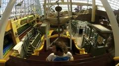 Man on amusment park ride V2 - HD Stock Footage