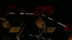 Christmas market ferris wheel gondolas Stock Footage