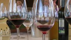 Wineglasses - stock footage