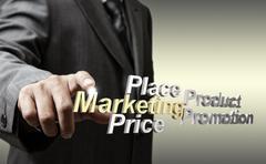 Stock Illustration of 3d metallic marketing4p diagram as concept