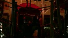 Christmas market ferris wheel entrance Stock Footage