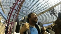 Stock Video Footage of Man on roller coaster V5 - HD