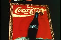 Times Square, New York City, 1993, Coca Cola, Coke sign, active neon Stock Footage