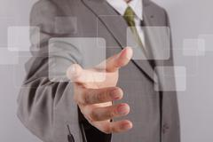 Stock Illustration of hand touch the touch screen interface