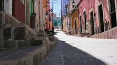 Colors in street of Mexico. Shot with steadycam Stock Footage