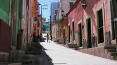 Colorful street of Mexico - stock footage