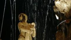 Detail of fountain in Trento. Italy Stock Footage