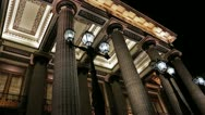 Theatre Columns Stock Footage