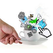 Stock Illustration of coffee cup as concept