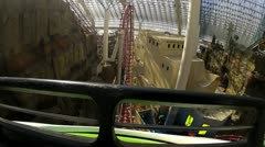 Roller coaster ride POV V3 - HD Stock Footage