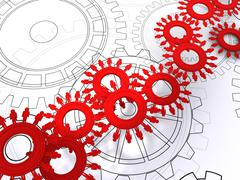 Stock Illustration of people cogs as concept