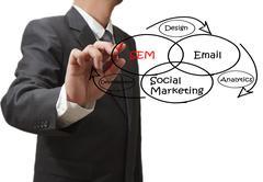 Stock Illustration of social media marketing