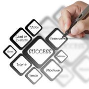 success diagram - stock illustration