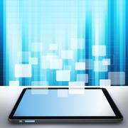 Stock Illustration of touch pad concept and buttons background
