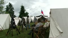 Confederate camp is quiet   578-1 - stock footage
