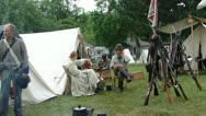 Confederate camp is quiet  587-1 Stock Footage
