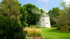 Old east windmill Heritage plantation Sandwich Cape Cod; 2 Stock Footage