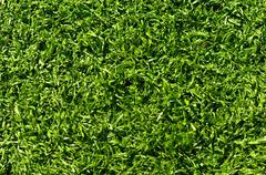 Fake grass used on sports fields for soccer, baseball, golf and football Stock Photos