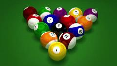 Billiard Pool Break . FULL HD  Stock Footage