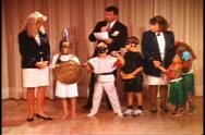 Children's masquerade contest, with Cruise Director on a cruise ship Stock Footage