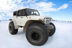 Venäjä Bigfoot lumella Kuvituskuvat