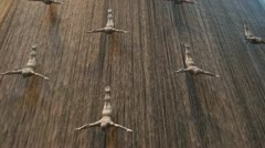 Sculptures in the Dubai Mall Stock Footage