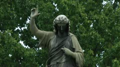 Statue and Tree Stock Footage