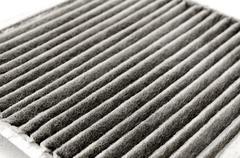 old car air filter - stock photo