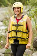Stock Photo of Adult Woman Wearing Typical Water Sport Outfit