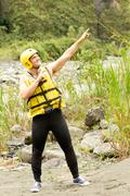 Stock Photo of Adult Man Wearing Typical Water Sport Outfit