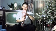WHAT IS IT? Christmas Present 1950 (Vintage Film Old Home Movie Footage) 4591 Stock Footage