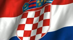 Croatia Waving Flag Stock Footage