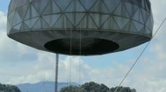 Premium clip: arecibo radio observatory receptor dome close-up 2 - stock footage