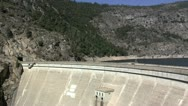 Stock Video Footage of Hetch Hetchy Dam and Reservoir