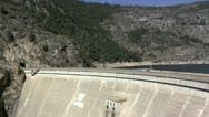 Hetch Hetchy Dam and Reservoir Stock Footage