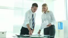 Teamwork and paperwork - stock footage
