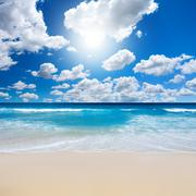 gorgeous beach landscape - stock photo
