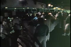 Island Party at night on top deck, disco dancing, on cruise ship in Bermuda Stock Footage