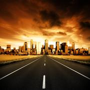 urban highway - stock photo
