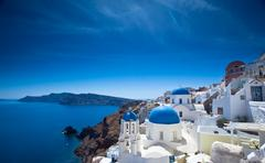 Santorini Churches - stock photo