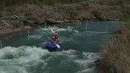 Stock Video Footage of Whitewater rafting gone wrong