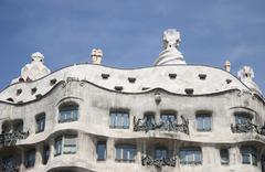 gaudi building in barcelona - stock photo