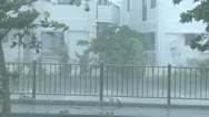 Stock Video Footage of Extreme Wind And Rain In Hurricane Eyewall