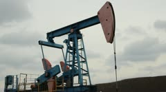 Oil production. oil pumps Russia Stock Footage