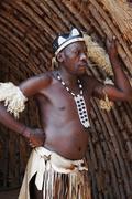 Zulu man posed Stock Photos