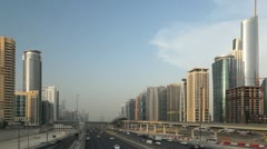 Dubai Sheikh Zayed Road by Sunset Stock Footage